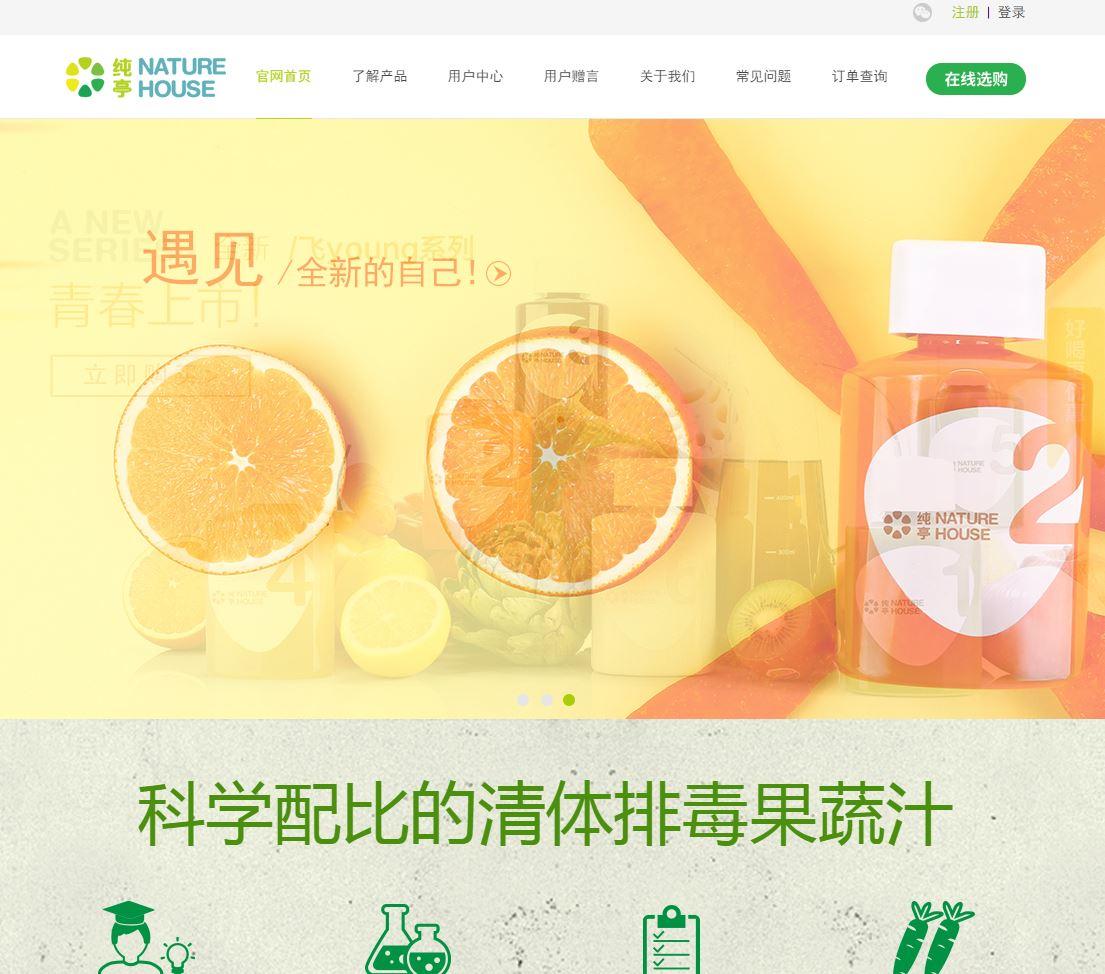 上海纯亭食品科技有限公司网站建设